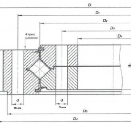 ОПУ, опорно-поворотное устройство экскаватора John Deere 215LC-8