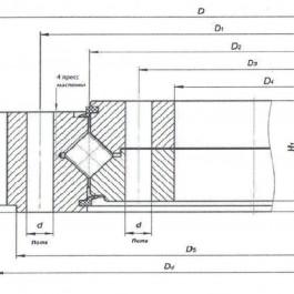 ОПУ, опорно-поворотное устройство экскаватора John Deere 235LC-8